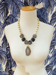 Riverstone, Labradorite & Agate Necklace
