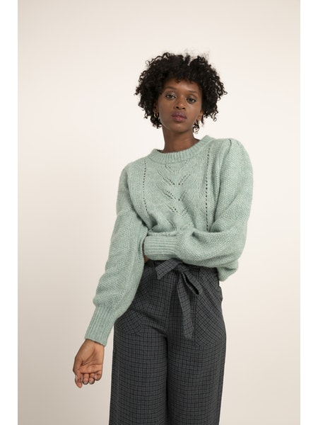 Nadeige Sweater in Mint Melange
