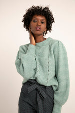 Load image into Gallery viewer, Nadeige Sweater in Mint Melange