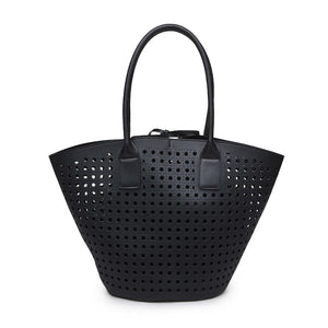 Palmas Laser Cut Tote in Black