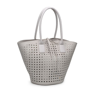 Laser Cut Tote in Ivory
