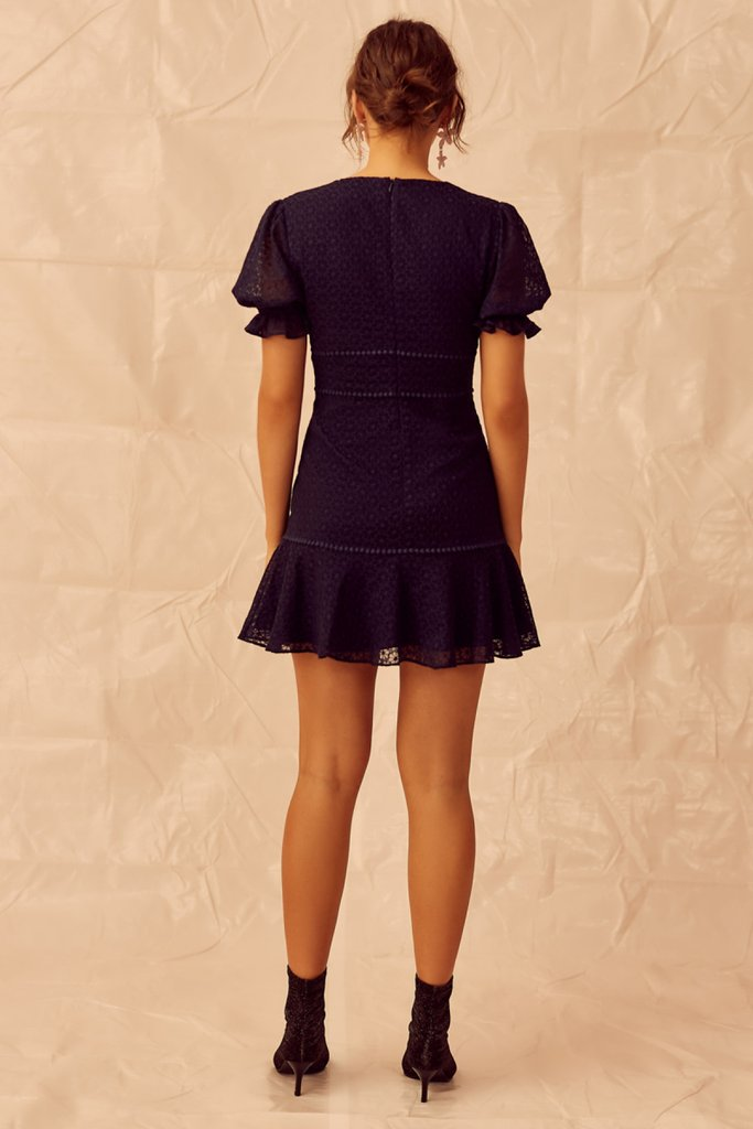Trouble Mini Dress in Navy
