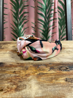 Load image into Gallery viewer, Silk Floral Headband in Pink