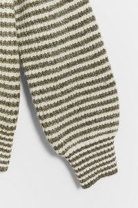 Arielle Sweater in Forest Green Stripe