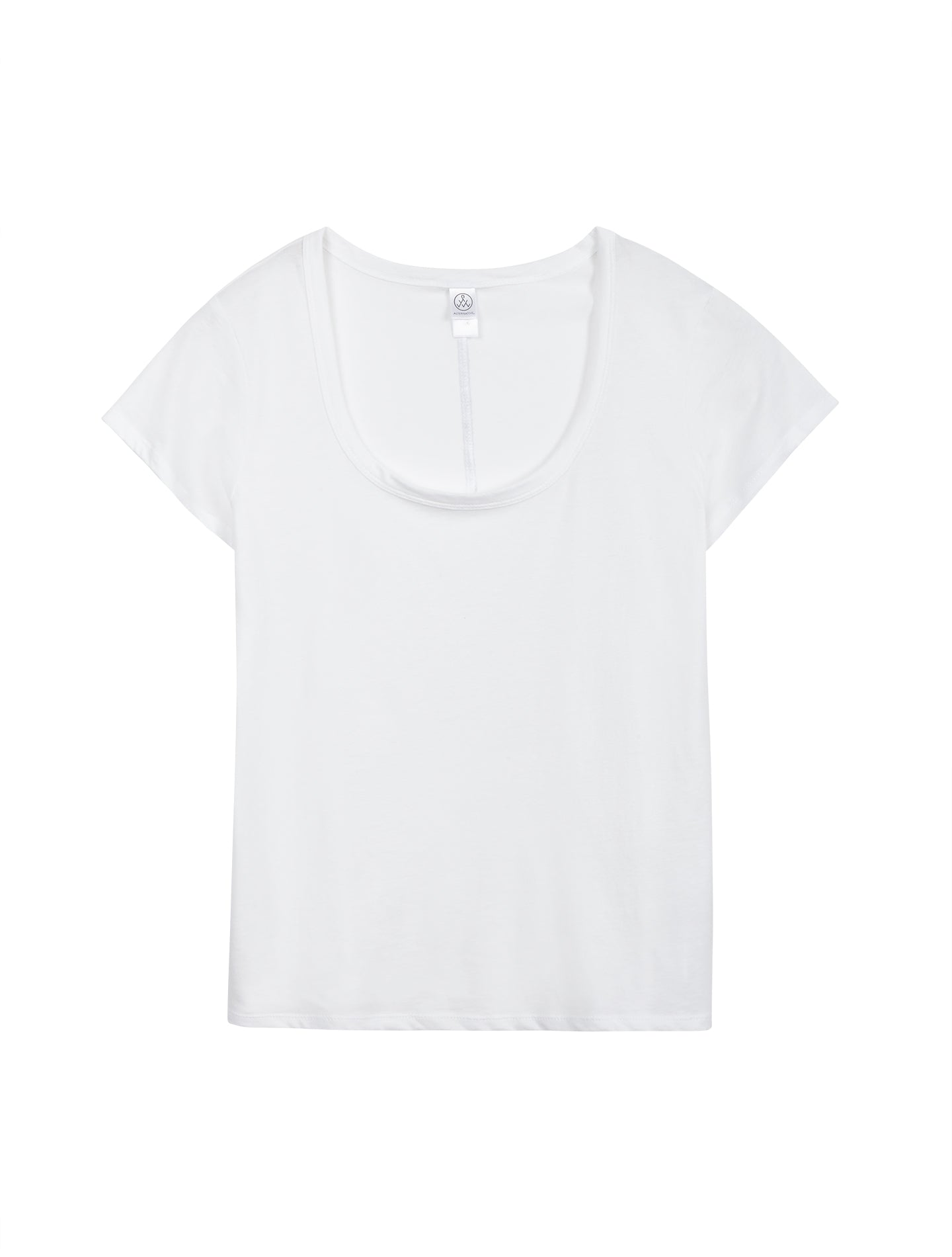 Organic Cotton Scoop T-Shirt in Earth White