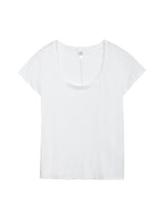 Load image into Gallery viewer, Organic Cotton Scoop T-Shirt in Earth White