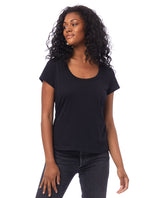 Load image into Gallery viewer, Organic Cotton Scoop T-Shirt in Black