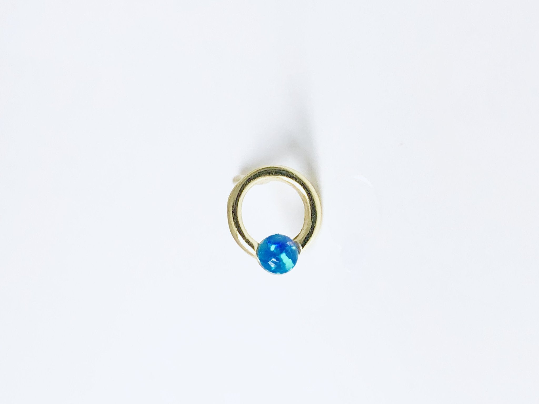 Opal Post Studs in Blue
