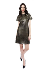 Load image into Gallery viewer, Speckle Sheath Dress in Black