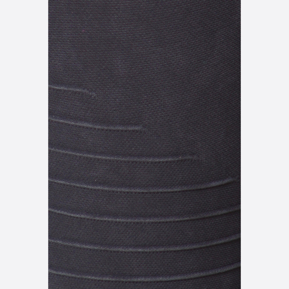 Stone Wash Seamless Moto Leggings in Charcoal Blue