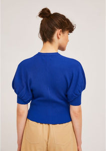 Rib Stitch Top in Blue