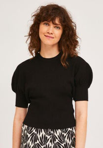 Rib Stitch Top in Black