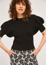Load image into Gallery viewer, Rib Stitch Top in Black