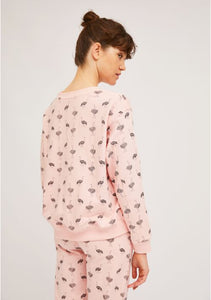 Ostrich Sweatshirt in Light Pink