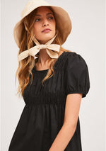Load image into Gallery viewer, Cotton Midi Dress in Black