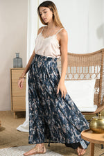 Load image into Gallery viewer, Long Flared Skirt in Tie Dye Midnight Blue