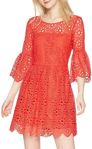 Lauper Dress in Poppy Red