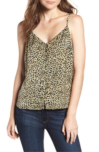 Jordane Printed Camisole in Dusty Olive