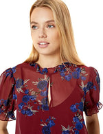 Load image into Gallery viewer, Rhythm & Blues Floral Top in Mulberry