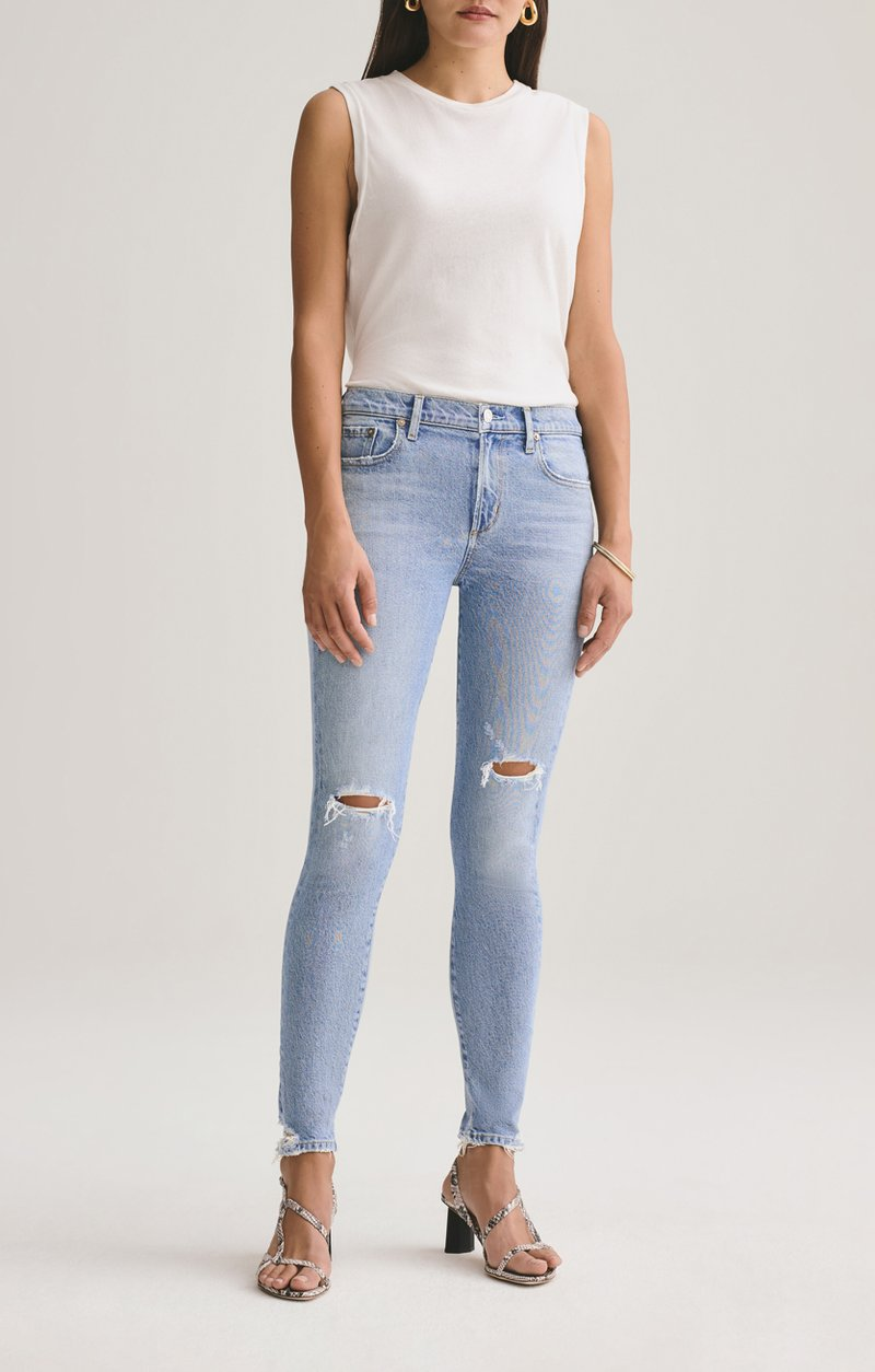 Sophie Mid Rise Ankle Skinny Jean in Shrine