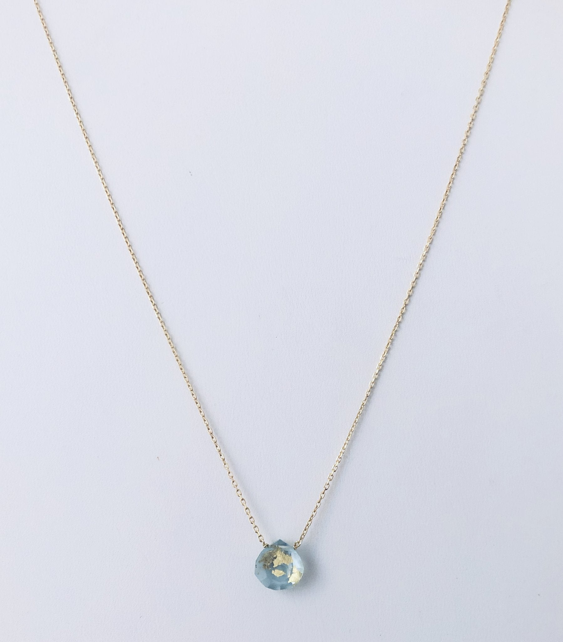 Topaz and Gold Drop Necklace