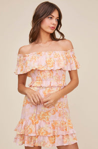 Riviera Dress in Pink Papaya