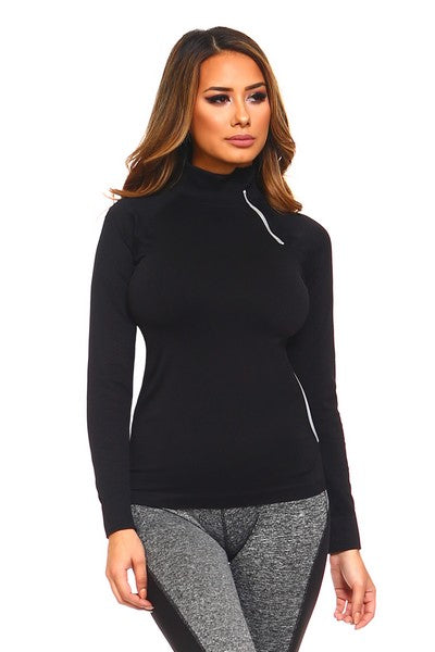 Seamless Pullover Jacket in Black