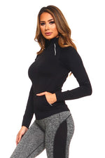 Load image into Gallery viewer, Seamless Pullover Jacket in Black