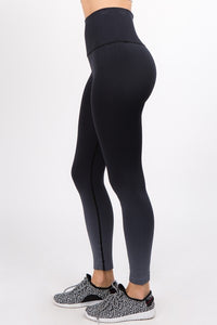 High Rise Dip Dye Legging in Black