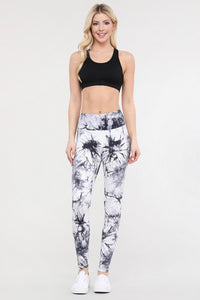 Tie Dye Leggings in White Combo