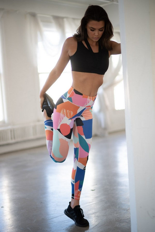 Modern Shapes Legging in Multi