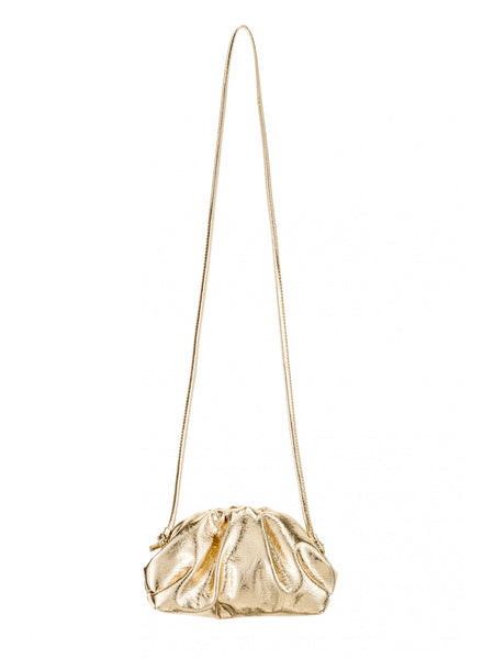 Crinkle Crossbody Bag In Gold