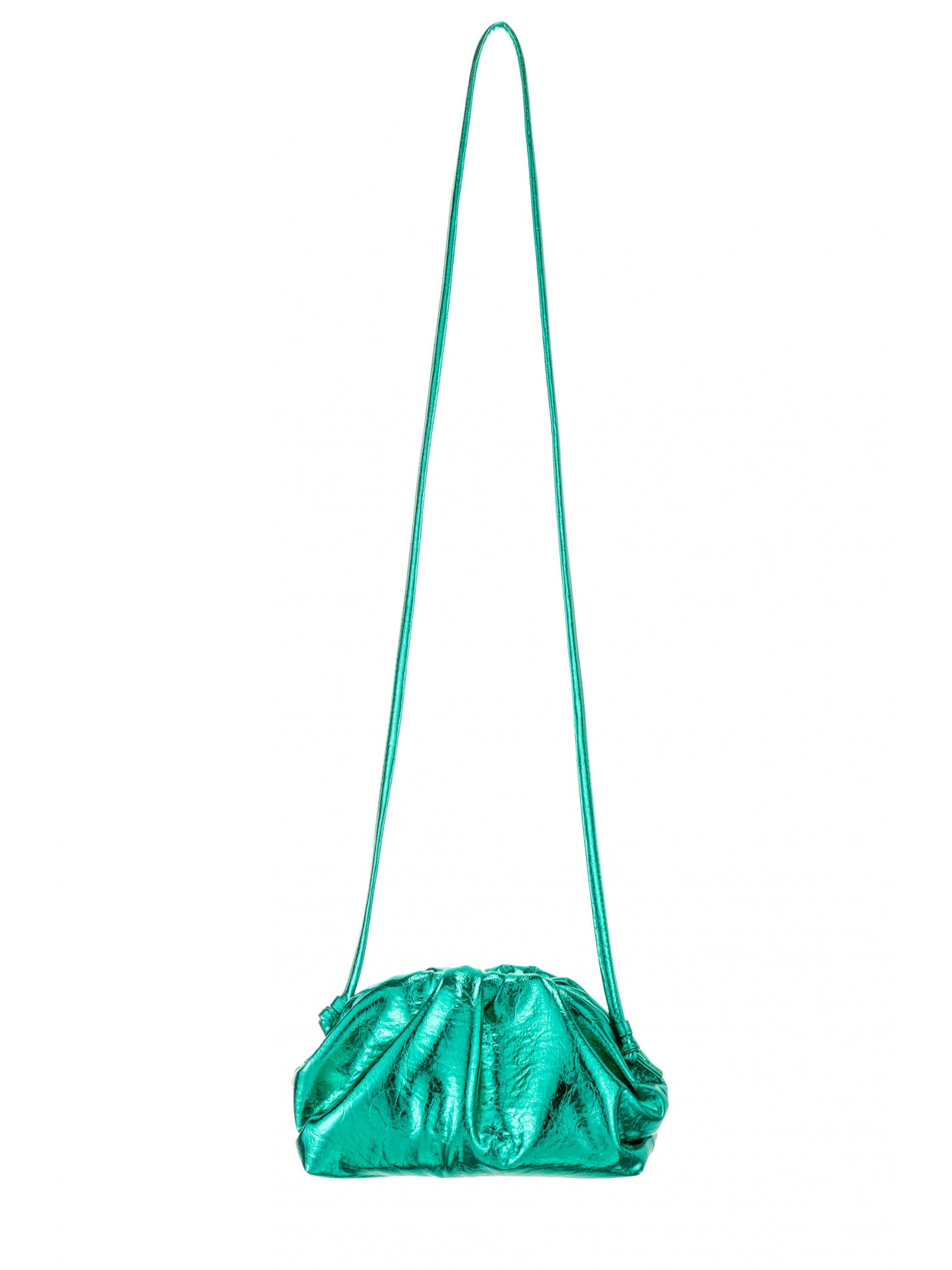 Crinkle Crossbody Bag In Green