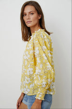 Load image into Gallery viewer, Anissa Peasant Top in Yellow