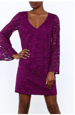 Load image into Gallery viewer, Revue Lace Dress in Purple