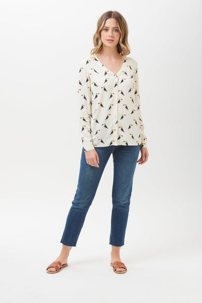 Arwen Blouse in Toucan Print