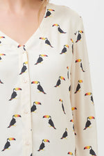 Load image into Gallery viewer, Arwen Blouse in Toucan Print