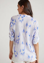 Load image into Gallery viewer, Capri Button Down in Spring Iris Print