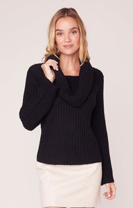 Love Actually T-Neck Sweater in Black