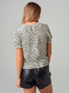 Spot Off the Press Blouse in Ivory