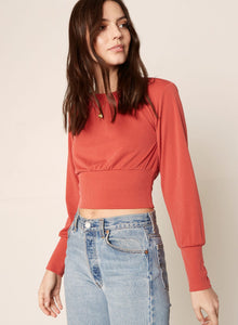 Stay Puffed Top in Persimmon