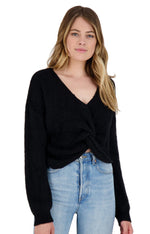 Load image into Gallery viewer, Got It Twisted Sweater in Black