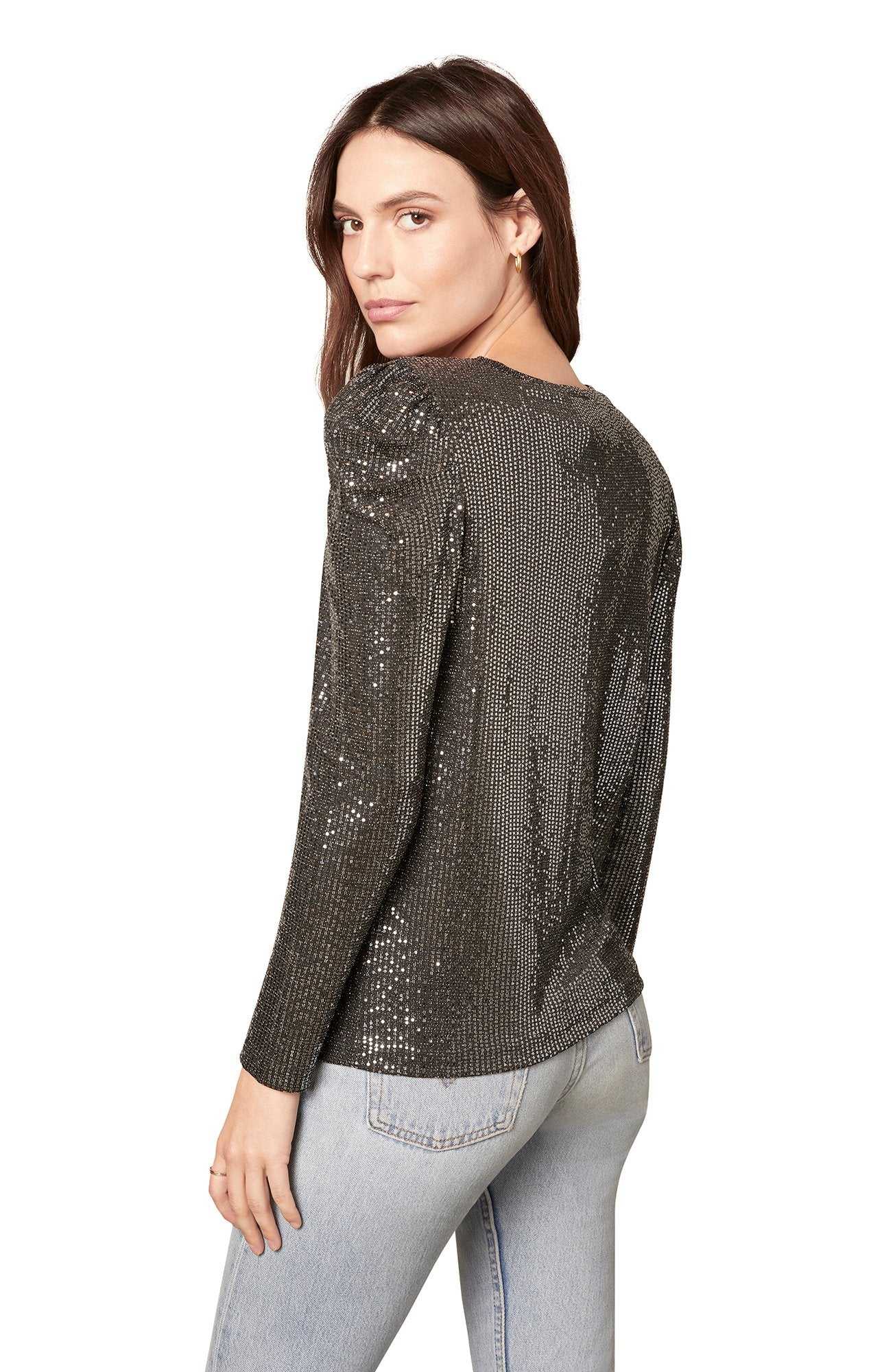 Let It Shimmer Top in Black