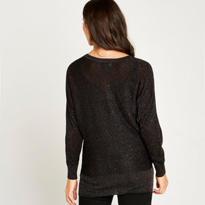 Sparkle Dolman Sleeve Sweater in Black Multi