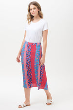Load image into Gallery viewer, Folk Floral Midi Skirt