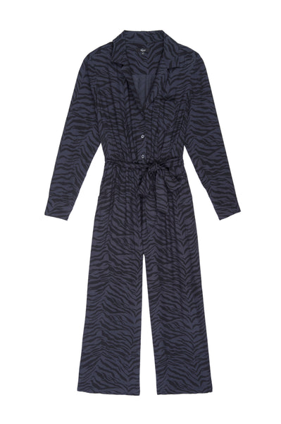 Callan Jumpsuit in Charcoal Tiger