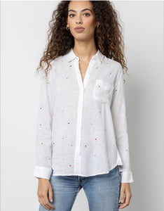 Charli Shirt in Embroidered Heart
