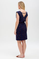 Load image into Gallery viewer, Hetty Jersey Dress in Navy Stargazer