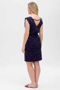 Hetty Jersey Dress in Navy Stargazer