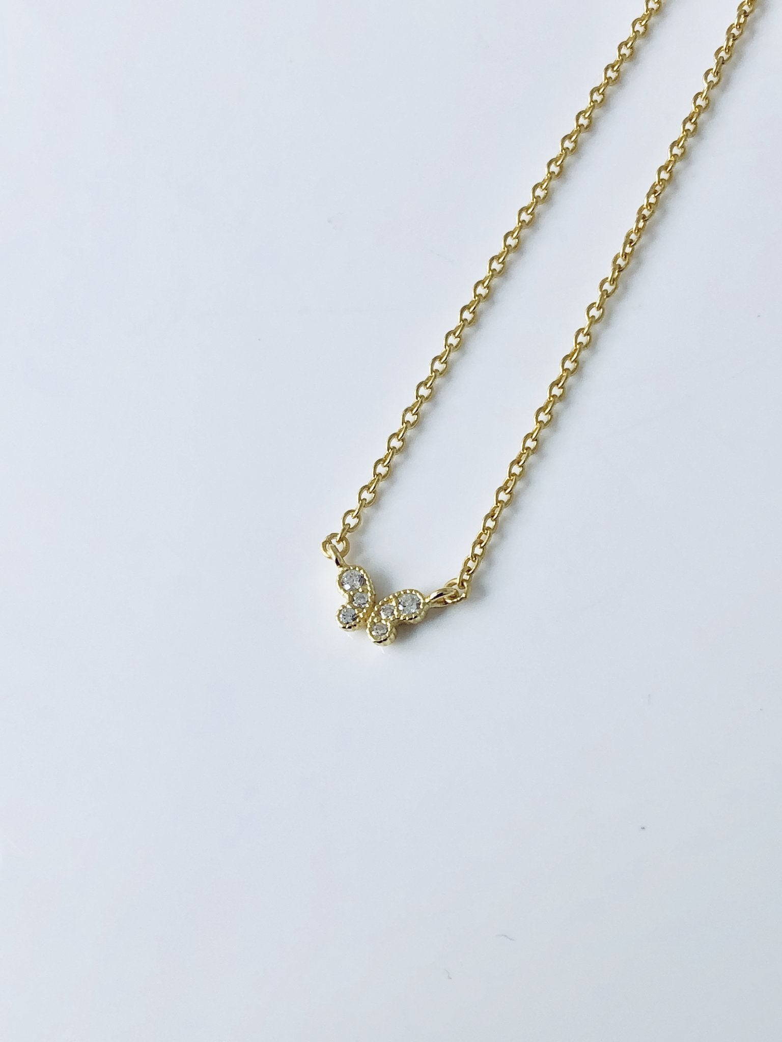 Gold Baby Butterfly Necklace